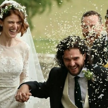 Kit Harington e Rose Leslie se casam na Escócia e elenco de Game of Thrones comparece