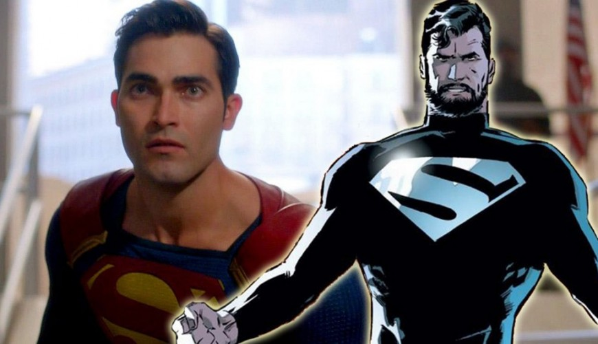 Superman aparece com o uniforme negro em novas fotos do crossover Elseworlds