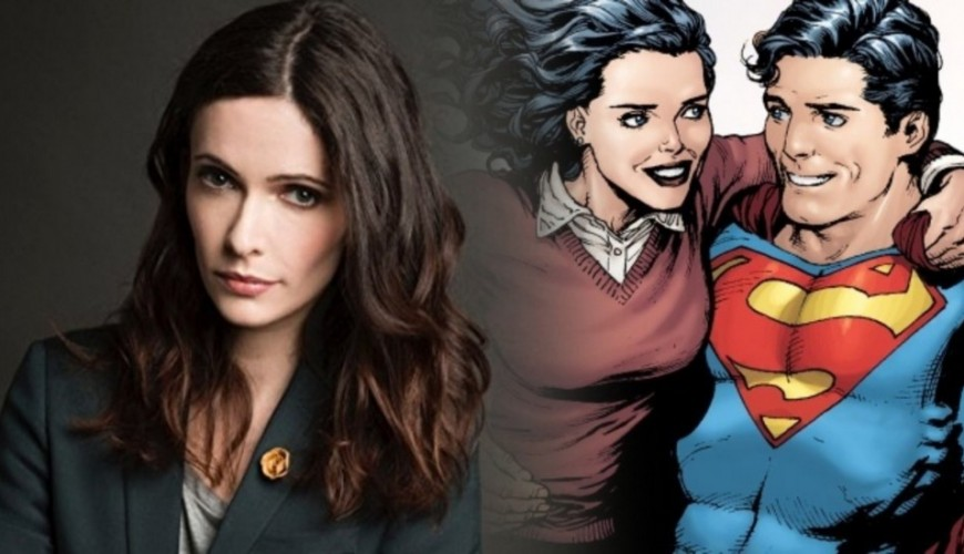 Superman dá literalmente apoio a Lois Lane no set de filmagens do crossover Elseworlds