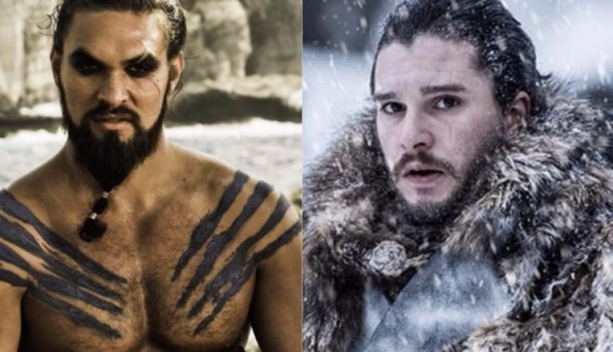 Jason Momoa posta foto ao lado de Kit Harington e elenco de Game of Thrones
