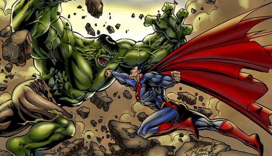 Hulk derrota o Superman em arte inédita do crossover entre Marvel e DC