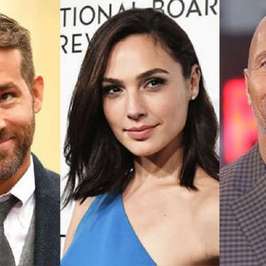 Foto mostra Gal Gadot, The Rock e Ryan Reynolds no set de Red Notice