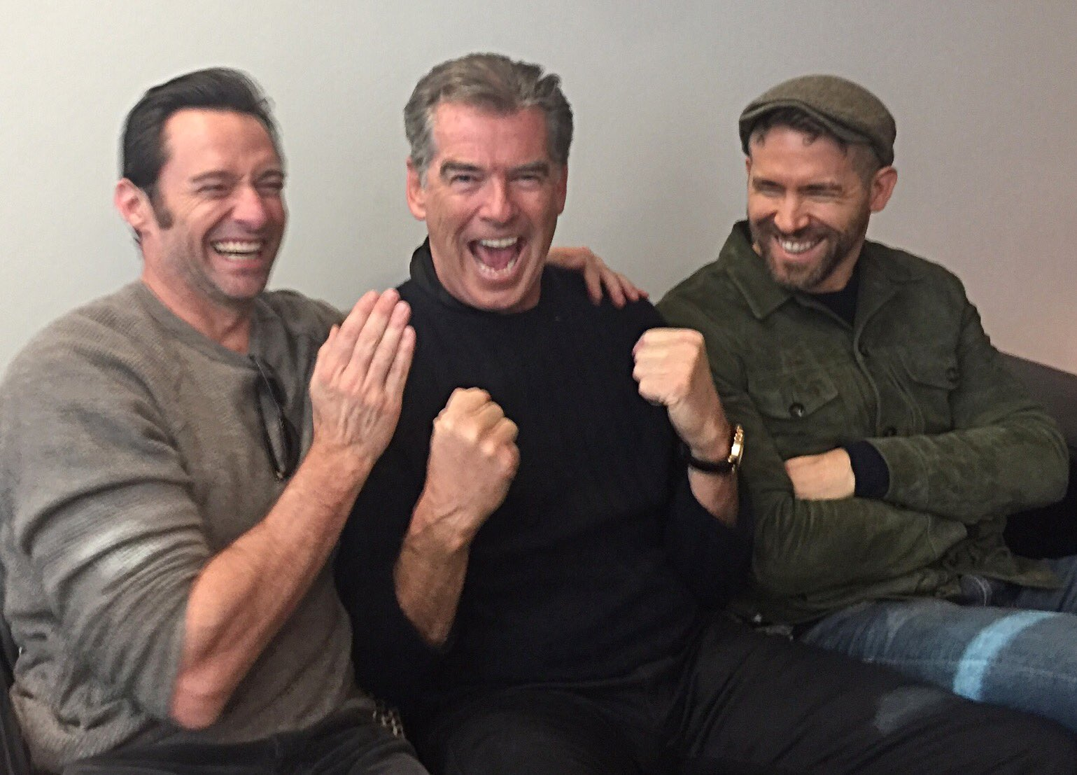 Hugh Jackam Pierce Brosnan Ryan Reynolds
