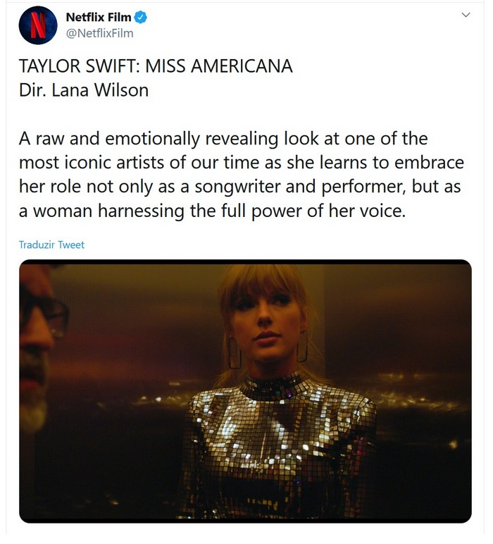 Documentário sobre Taylor Swift